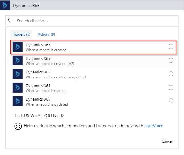 Dynamics 365 Connector
