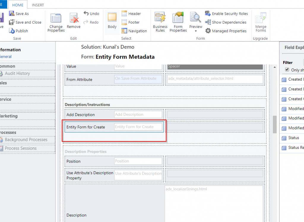 Dynamics 365 Portals: Create new entity record from within